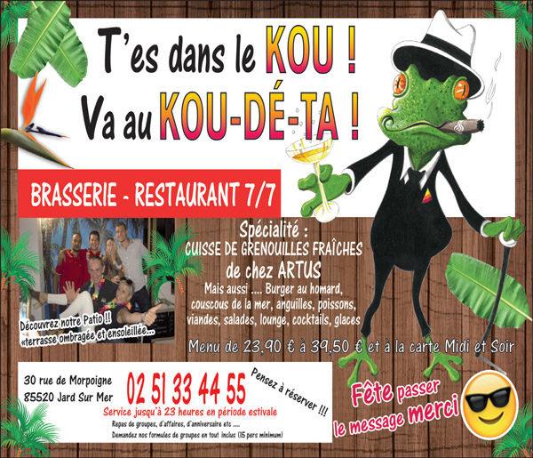 Restaurant le kou dé ta, Jard sur Mer en Vendée